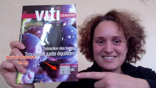 Magazine Viti Leaders - Nouvelle rubrique Vin 2.0 - Vinocamp, passer du virtuel au réel